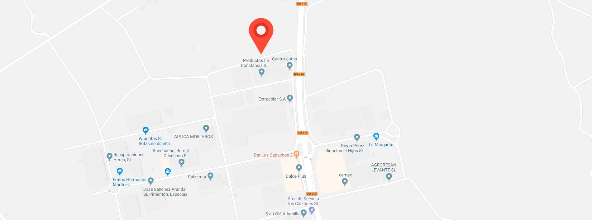 mapa localización productos las constancia